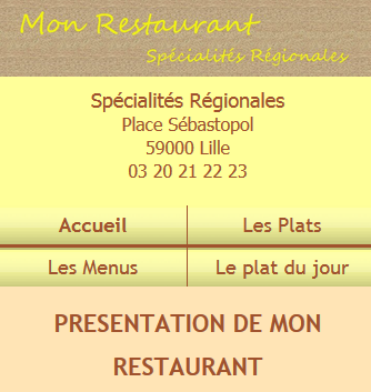 Restaurant - Marron et jaune