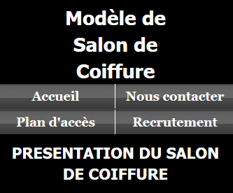 Salon coiffure - Fond noir