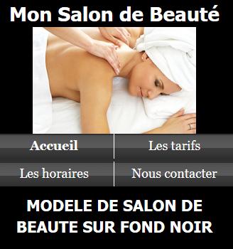 Salon de beauté - Fond noir