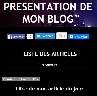 Blog - Fond noir