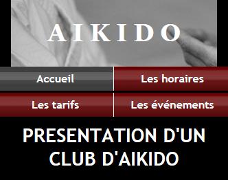 Club Aikido - Fond noir