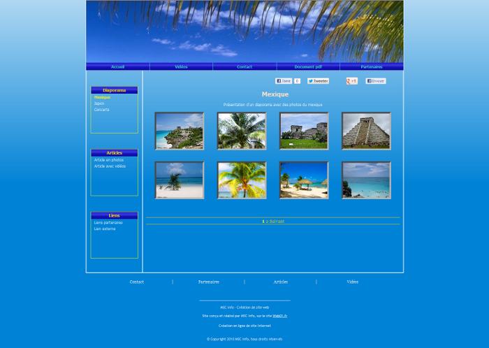 Modeles De Sites De Type Diaporama Pour Creer En Ligne Un Site Internet Gratuitement